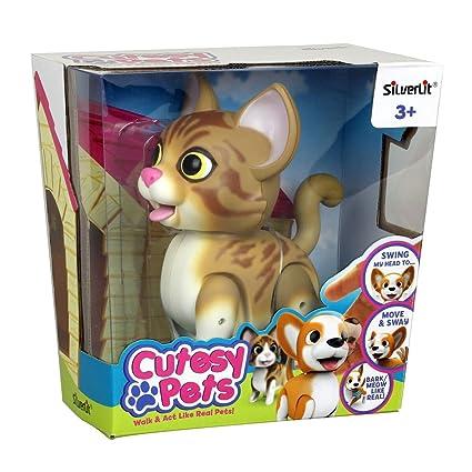 Amazon.com: SilverLit – Mascota cortada – gato de tabby ...