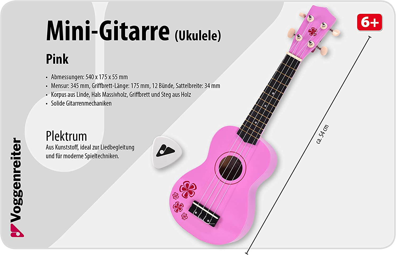 Pink Multi-color 1059-8 Voggenreiter Miniature Guitar