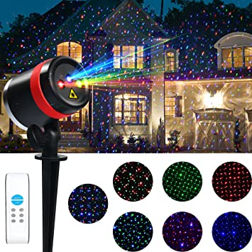 Amazon laser christmas lights rgb outdoor laser lights laser christmas lights rgb outdoor laser lights christmas laser lights with wireless remote waterproof aloadofball Gallery