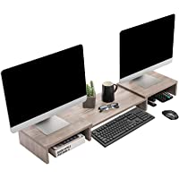 Superjare Updated Monitor Stand Riser, Adjustable Screen Stand for Laptop Computer/TV/PC, Multifunctional Desktop…