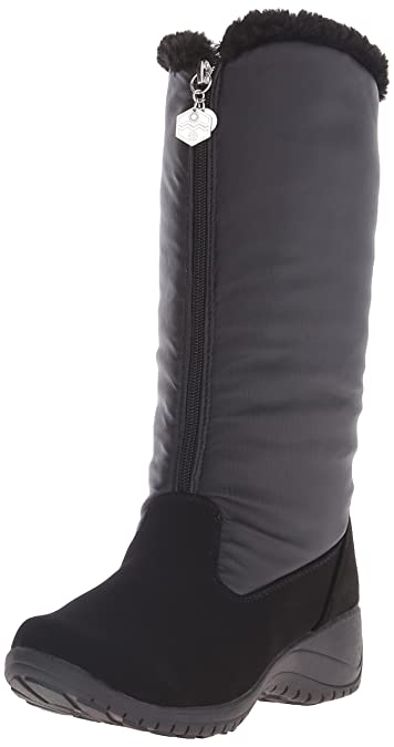 Khombu Women's Amber KH Cold Weather Boot, Black Supple, ...