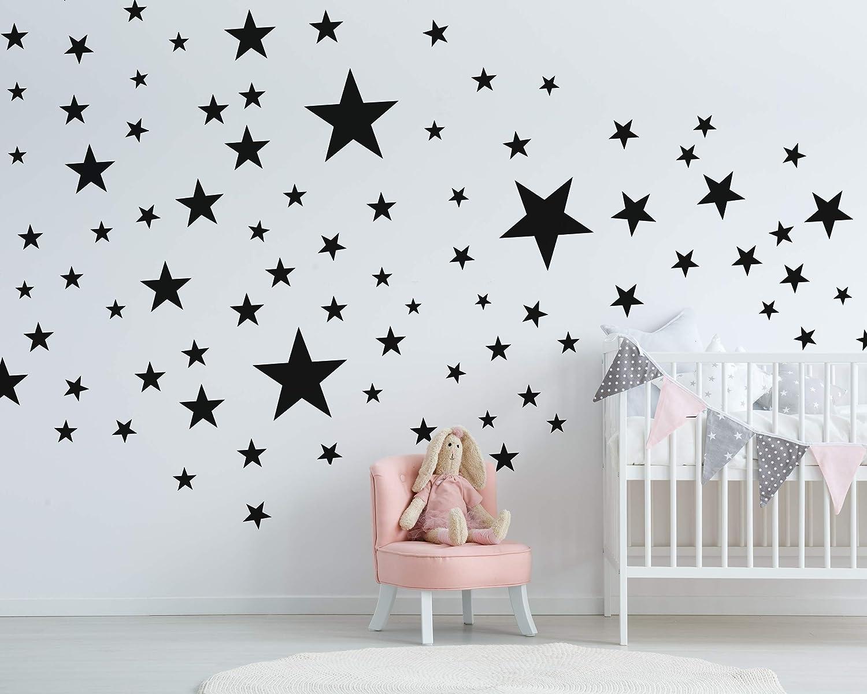 Kleinkinder Pastell Farben 25 Sterne Wandtattoo f/ürs Kinderzimmer Wandsticker Set Erstausstattung Farbverlauf Baby Sternenhimmel zum Kleben Wandaufkleber Sticker Wanddeko Wandfolie