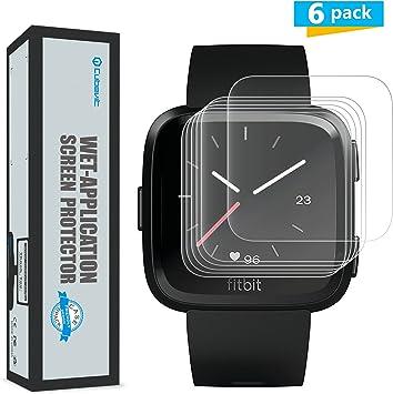 Cubevit Fitbit Versa Protector de Pantalla, [6-Pack] Protector de Pantalla para Fitbit Versa, No Burbujas/Ultra Trasparente TPU Aplicado en Húmedo Protector de Pantalla Vidrio para Fitbit Versa: Amazon.es: Electrónica
