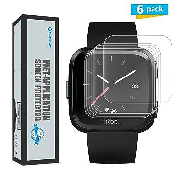 Cubevit Fitbit Versa Protector de Pantalla, [6-Pack] Protector de Pantalla para