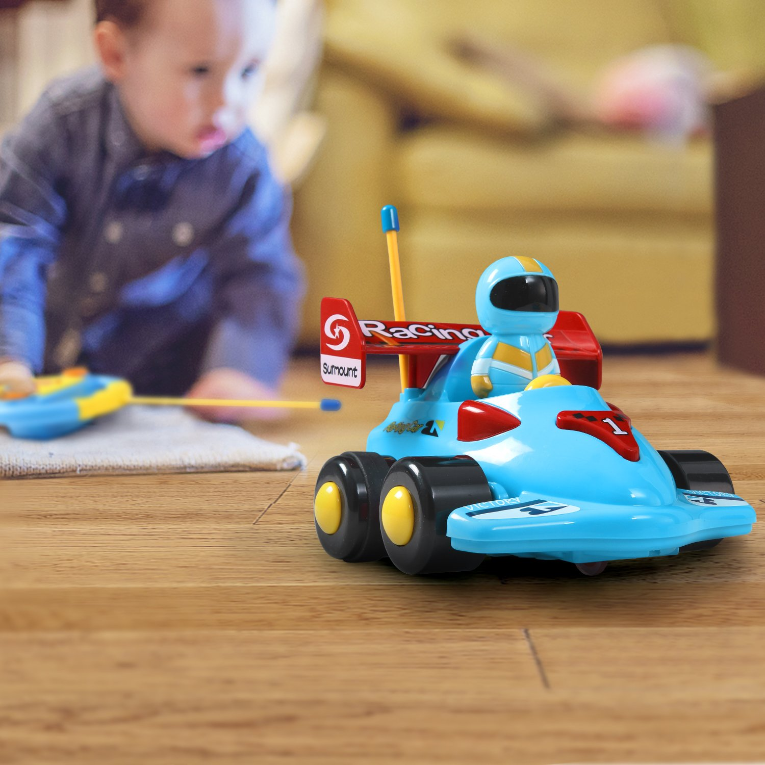 ANTAPRCIS Cartoon Remote Control Car Racer Toys Toddlers Birthday Gift Present 3 Year Olds Boys