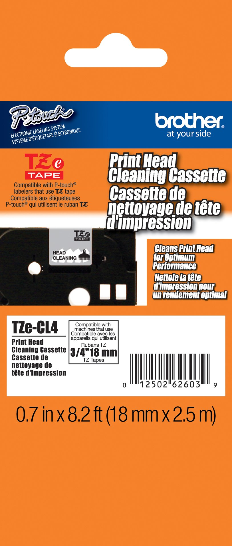 Brother Cleaning Tape 3/4 Inch - Retail Packaging, White (TZeCL4) - Retail Packaging