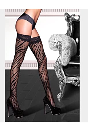 1150cae4438b Image Unavailable. Image not available for. Color: Zebra Print Thigh High  ...