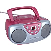 $22 Get Sylvania SRCD243 Portable CD Player with AM/FM Radio, Boombox (Pink)