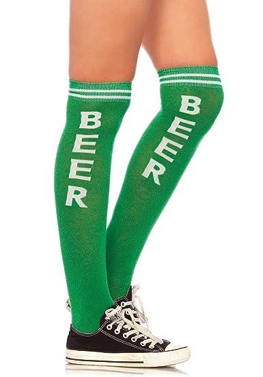 dba752e9 Leg Avenue Women's Beer Time Knee Socks