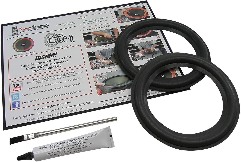 Pair Scan Speak 6.5 Inch Foam Speaker Repair Kit FSK-6.5ASP