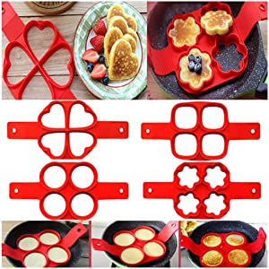 Pancake Machine, Egg Ring Machine, Non-Stick Pan, Wonderful Egg Omelette Mold, Kitchen