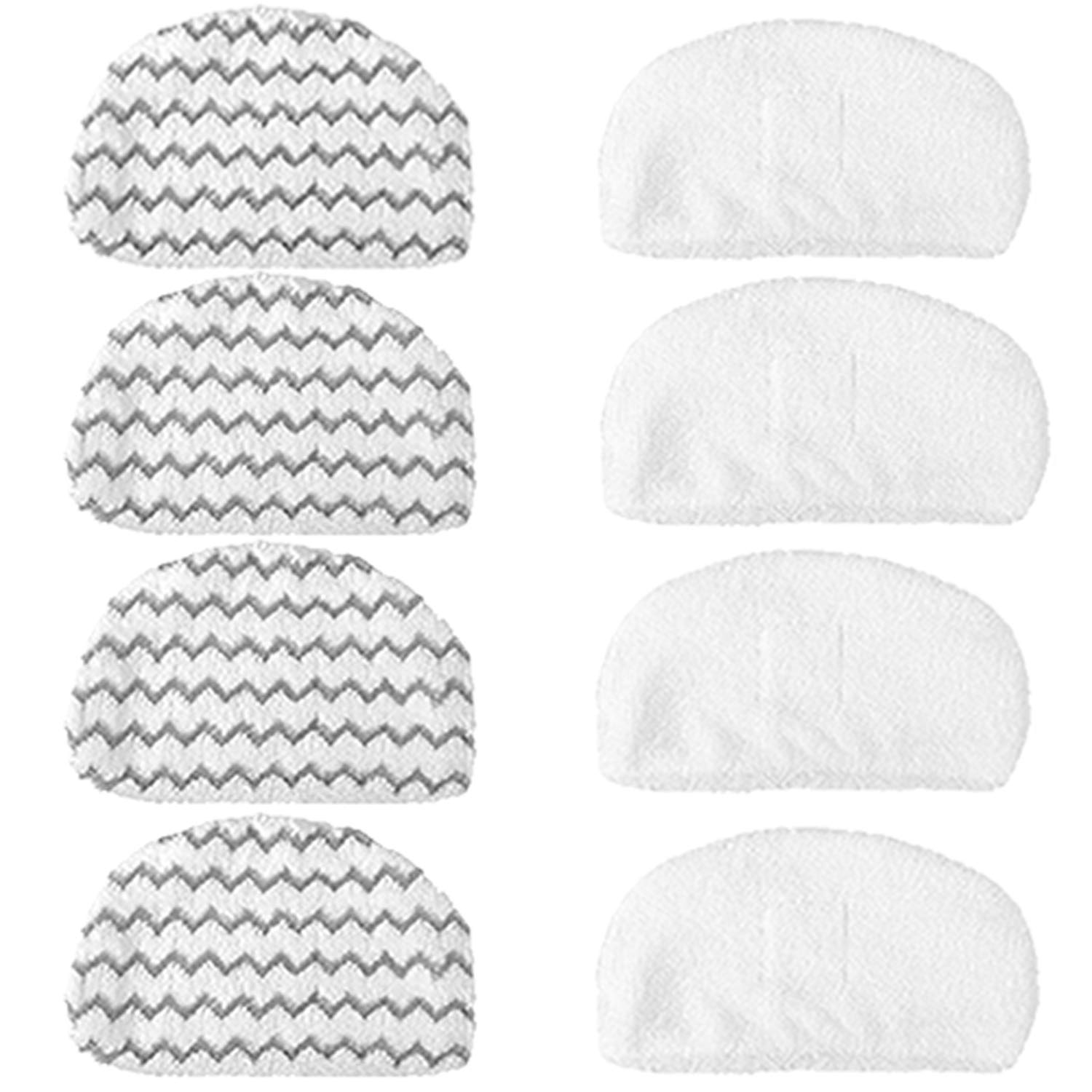 VacuumPal 8PK Washable Mopping & Scrubbing Pads Replacement for Bissell Powerfresh 1940 1440 1544 Series Model 1544A, 2075A, 1440, 1940W,19404, Deluxe 1806, 1940A, 5938, 19408, 1940Q, 1940W Steam Mop