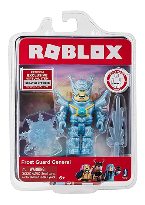 Amazon Com Roblox Frost Guard General Figure With Exclusive Virtual - roblox toys on amazon