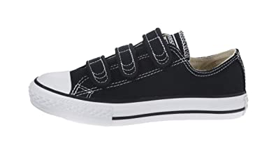078793266a99 Converse Kid s Shoes All Star Black Low 3 Strap Fashion Sneakers (2 Little  Kid M