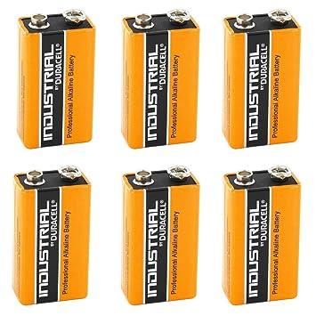 Duracell 6x 9V Volt Industrial Baterías Alcalino Sustituye Procell Caducidad 2019: Amazon.es: Electrónica