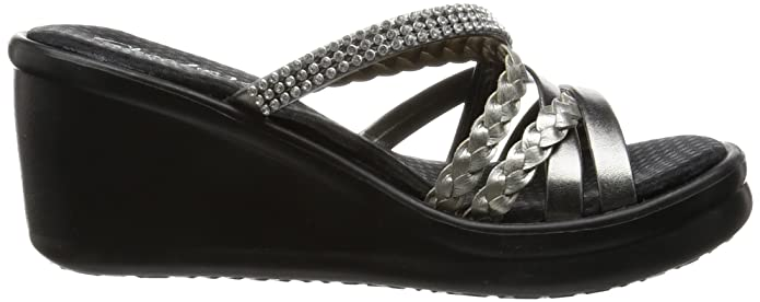 a4cfe85e27f8 Skechers Cali Women s Rumblers-Social Butterfly Wedge Sandal  Buy Online at  Low Prices in India - Amazon.in