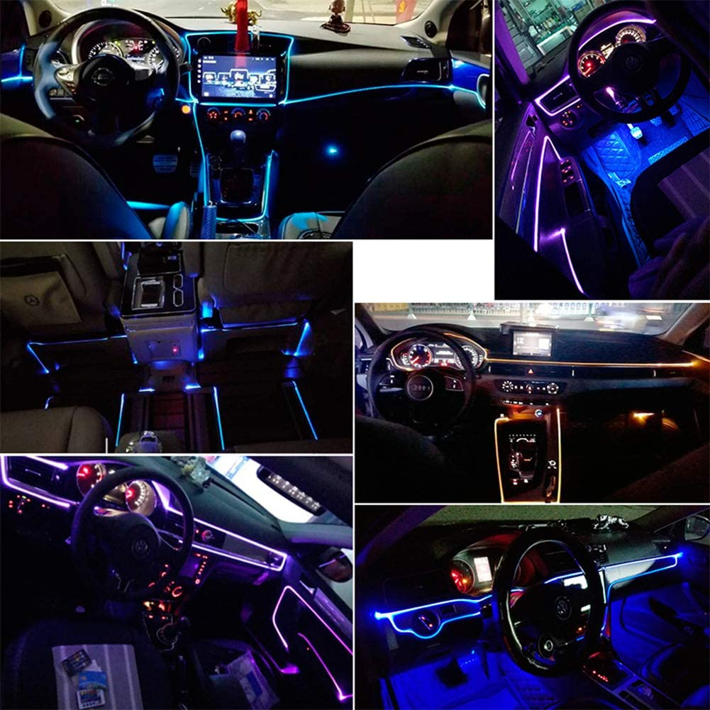 /Étanche DC LED avec 8 couleurs Kit d/éclairage int/érieur Taben pour voiture 12V 1W