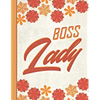 Best Mom Ever: Boss Lady Inspirational Gifts for Woman 8.5x11 Cute Autumn Orange Pattern