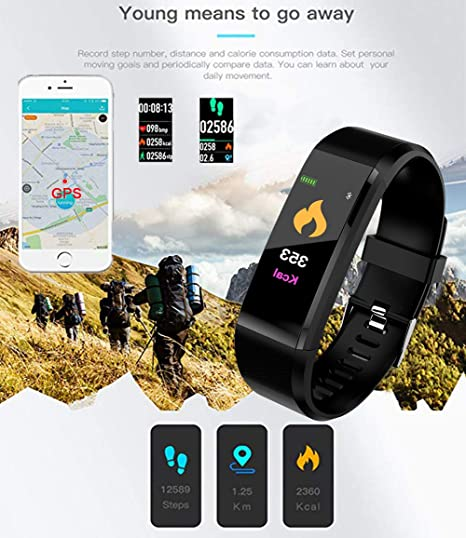 Amazon.com: LIGE Fitness Tracker HR, Activity Tracker Watch with Heart Rate Monitor, Waterproof Smart Bracelet with Step Counter, Calorie Counter, ...