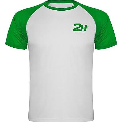 Camiseta pádel y Tenis Hombre Blanca y roja 2H Fury