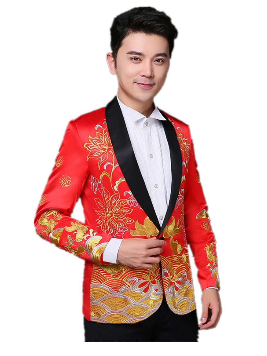 Brideroom Wedding Dress Mandarin Jacket ImperialRobe Tang Suits West Suits