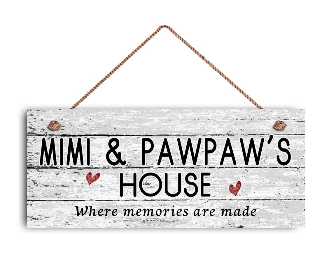 Amazon.com: Mimi y cartel de casa de Pawpaw, donde Memories ...