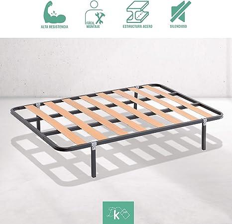 Dreaming Kamahaus SOMIER de lámina Ancha Estructura de 30x30 | 150 x 190 cms.| Láminas de Chopo | Compatible con Patas cuadradas con Abrazadera (No Incluidas) | Fabricado en España |: Amazon.es: Hogar