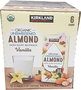 Kirkland Signature Organic Almond Unsweetened Milk
