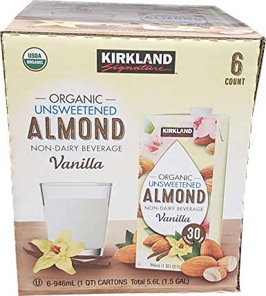 Kirkland Signature Vainilla orgánica sin azúcar de almendra ...