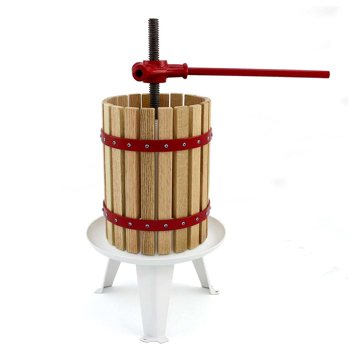 KuKoo Manual Apple Fruit Press for Homemade Juice, Wine & Cider Making, 6 Litre, Wooden MonsterShop
