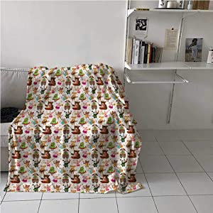 carmaxs Weighted Blanket for Kids Music for Couch Home Bedroom Living Room Toys Playing Teddy Bear 50 x 70 Inches