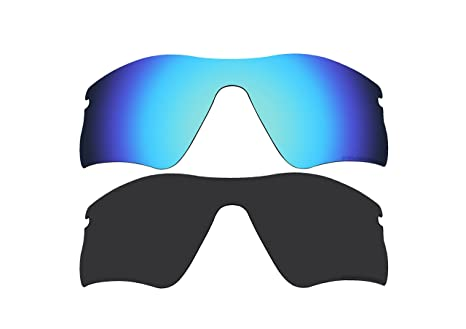 eca6606d70 Image Unavailable. Image not available for. Color  2 Pairs BVANQ Polarized  Lenses Replacement for Oakley Radar Range Sunglasses Black ...