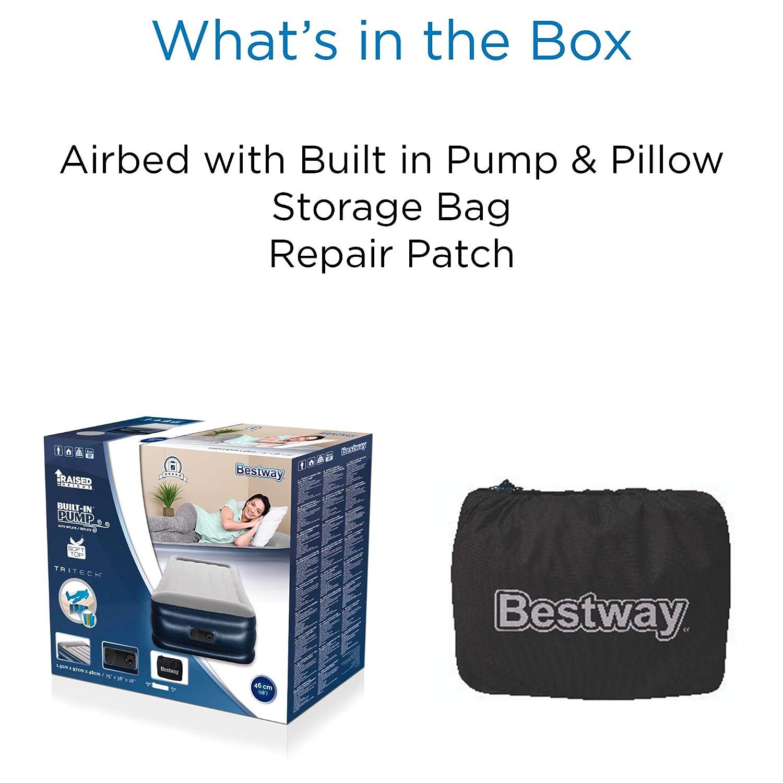 Bestway Tritech Colchón Inflable con inflador de Aire de inflado ...