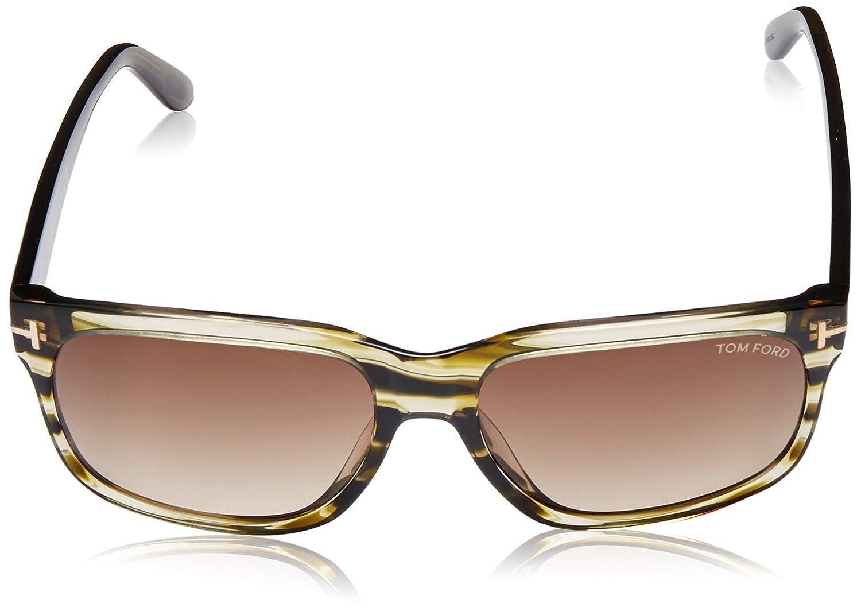 3c8d27b11d03e Amazon.com  Tom Ford Barbara Women s TF376 TF 376 98K Olive Stripe Fashion  Sunglasses 58mm  Clothing