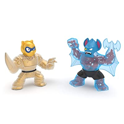 Heroes of Goo Jit Zu Water Blast Versus Pack - 2 Action Figure Pack Including Exclusive Golden Figure, Pantaro Vs Battaxe, Multicolor: Toys & Games