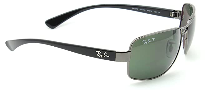 f99ebfa31 Amazon.com: Ray-Ban RB3379 004/58 Mens Polarized Sunglasses Green ...