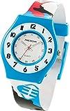 Freegun - EE5152 - Montre Mixte - Quartz Analogique - Cadran Blanc - Bracelet Plastique Multicolore