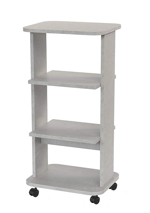 Relax e Design - Mueble con Carro Blanco de Cemento para TV ...