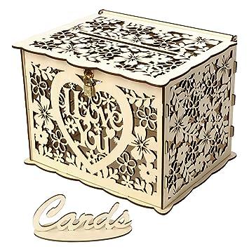 LouiseEvel215 Te Amo Regalo de Boda Caja de Tarjeta de ...