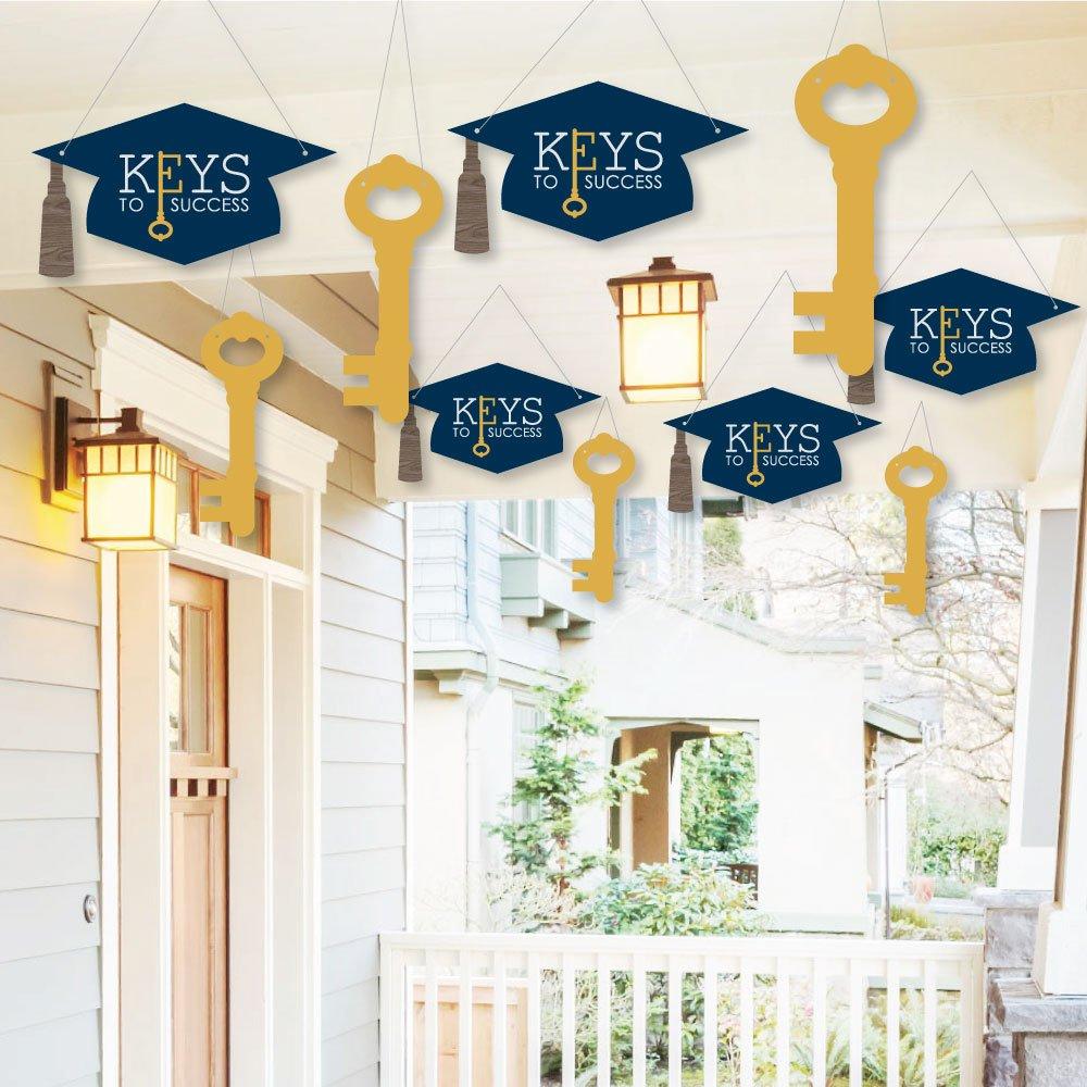 Amazon Com Hanging Grad Keys To Success Outdoor Hanging Decor