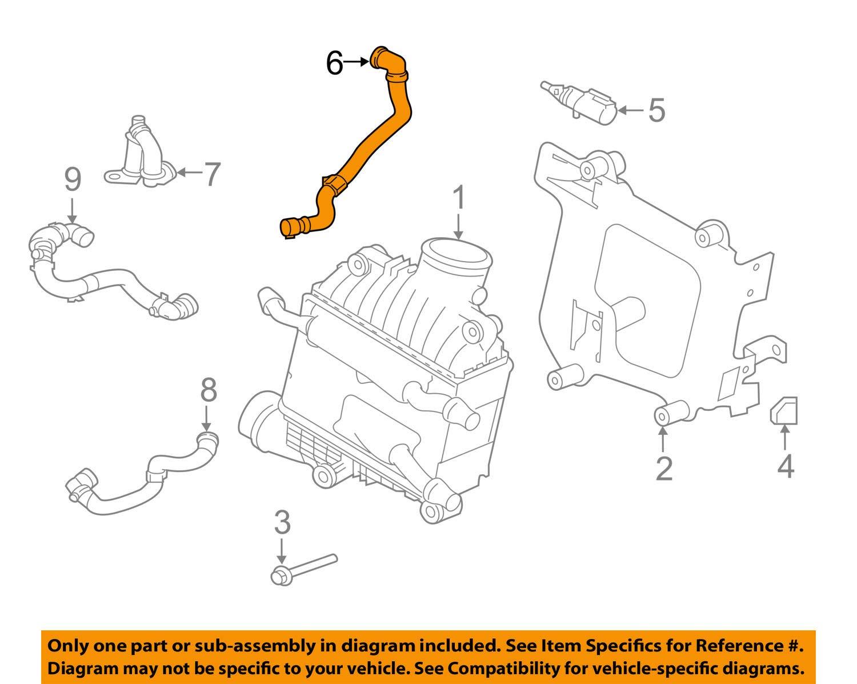 Jaguar OEM 17-18 XE 2.0L-L4 Intercooler-Reservoir Hose T2H4038 by Jaguar (Image #1)
