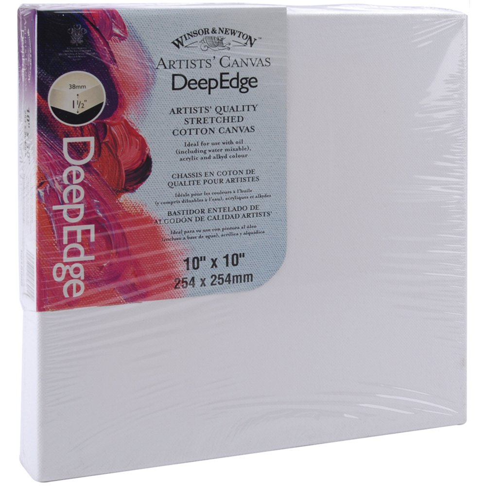 Winsor Newton 10-Inch by 10-Inch Artists Quality Deep Edge Stretched Canvas Winsor & Newton 6015098
