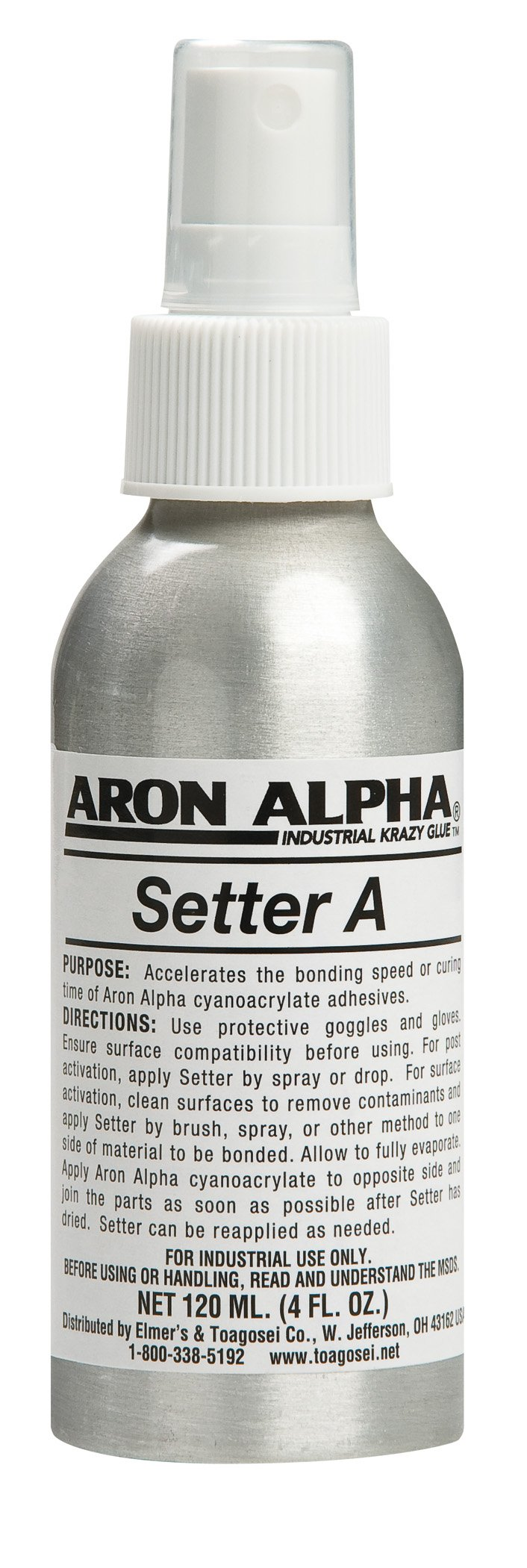 Aron Alpha Setter H With Pump Action Spray Mister For Use With Instant Adhesives. 120 ml (4 oz)