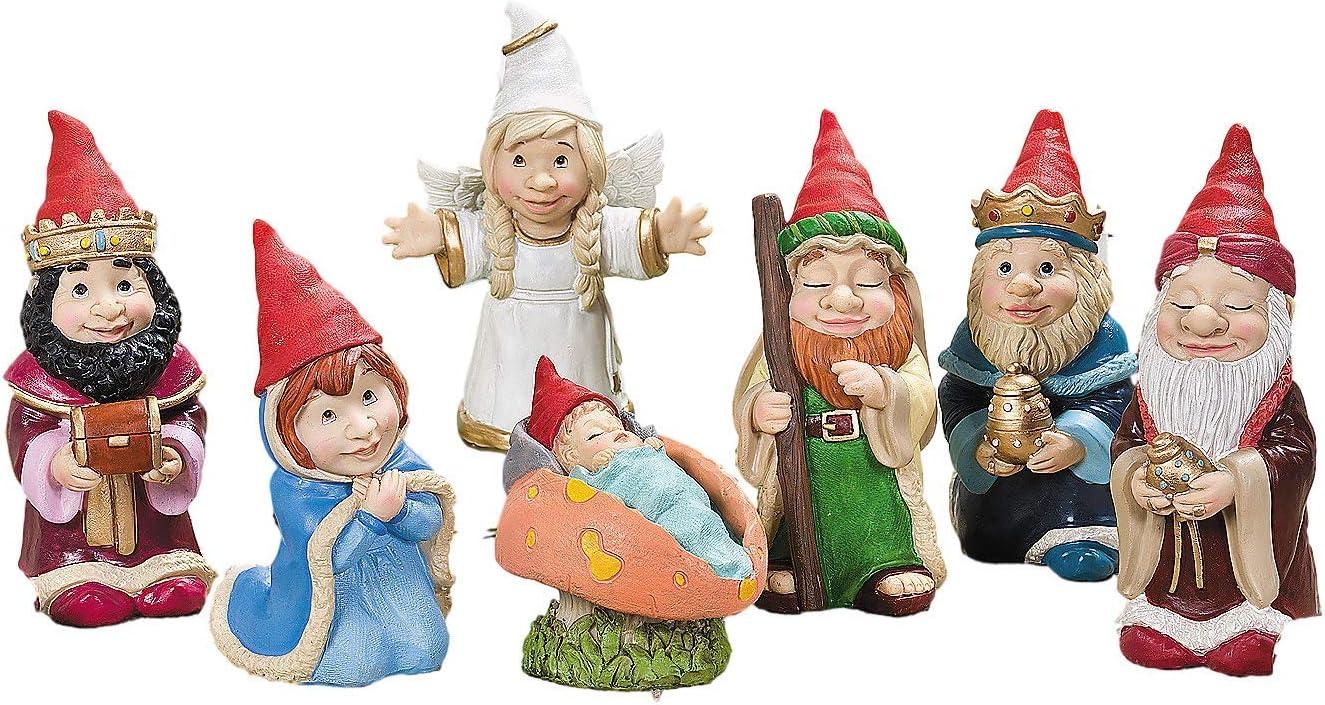 OTC 7 Piece Gnome Nativity Christmas Scene