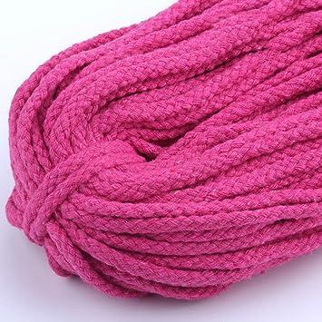 Cuerda de algodón trenzado suave para atar nudos, 90 metros de ...