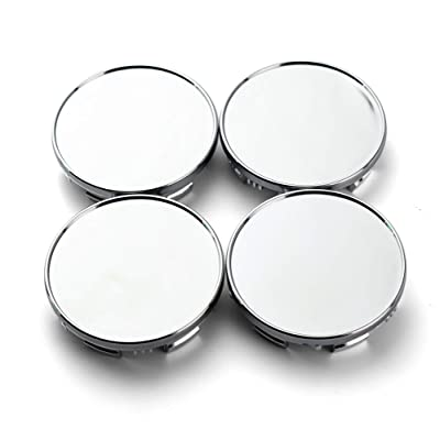 85mm(3.34in)/78mm(3.07in) Chrome Silver Car Wheel Center Hub Caps Set of 4 for Titan(2004-2012) Armada(2004-2012) #40342-7S500: Automotive