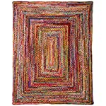 "Casual Handmade Braided Cotton Multi Area Rugs, 7 Feet 6 Inches by 9 Feet 6 Inches (7 6"" x 9 6"")"