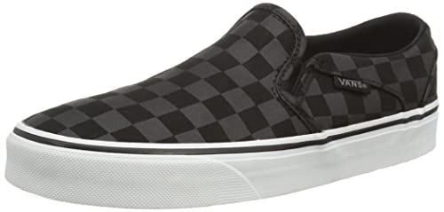 UK Shoes Store - Vans M ASHER Sneakers low man Black (Checkers / Black / Black)