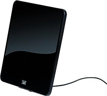 TnB Antena Interior - Diseño Ultraslim y Amplificador de Señal Integrado. Potencia del Amplificador de 55 dB. Filtro Anti-interferencias con Redes ...