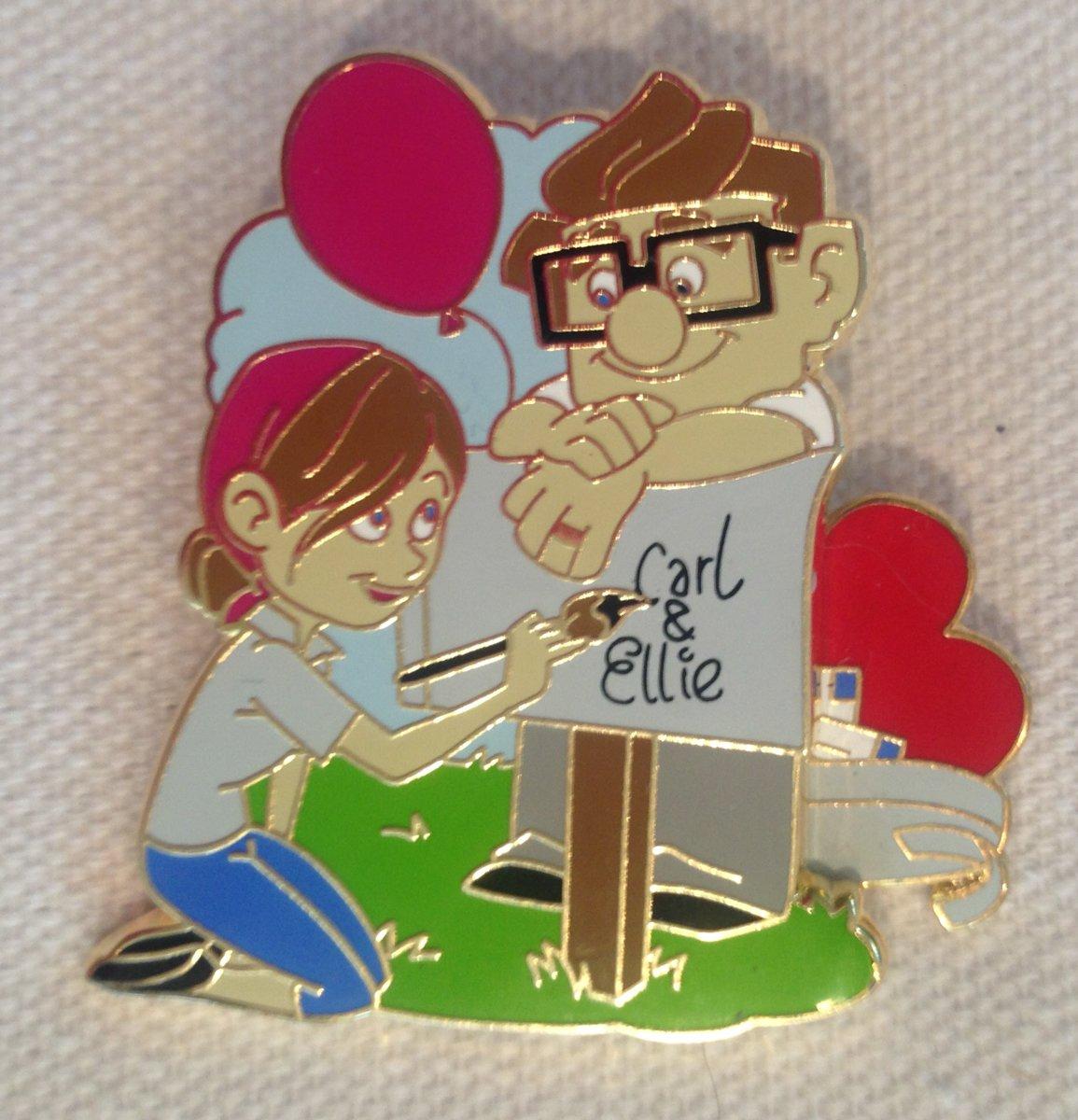 Disney Pin Carl and Ellie at the Mailbox Pin Pixar UP